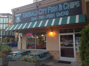 Emerald City's Fish and Chips our Favorite Local Fish and Chips. The food here is delicious!